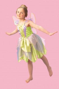 Disney - Tinkerbell - Deluxe Kleid+Flügel - Kinder Kostüm - 2 Teile - Rubie's