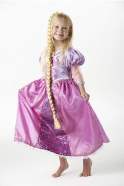 Disney Rapunzel Deluxe - Kleid+Zopf - Kinder Kostüm - 2 Teile - Rubie's