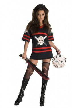 Freitag der 13. - Miss Voorhees - Shirt+Handtasche - Kostüm - 2 Teile - Rubie's