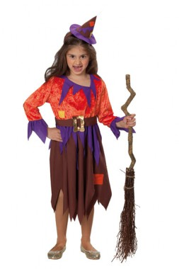 Hexe Holly - Kleid+Hut - Kinder Kostüm - 2 Teile - Rubie's