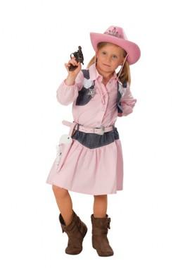 Cowgirl - Hemd mit Weste+Rock - Kinder Kostüm - 2 Teile - Rubie's