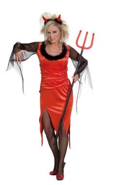 Teufelin - Kleid - Kostüm - 1 Teil - Rubie's
