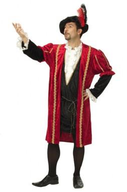 Renaissance Fürst - Überwurf - Kostüm - 1 Teil - Rubie's