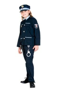 Blauer Polizist - Oberteil+Hose+Mütze -  Kinder Kostüm - 3 Teile - Rubie's