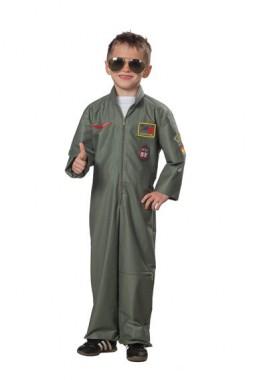 Kampfpilot - Overall -  Kinder Kostüm -1 Teil - Rubies's