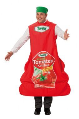 Develey-Ketchup - Robe+Kopfbedeckung -  Kostüm - 1 Teil - Rubie's