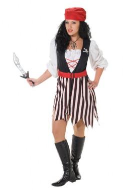Piraten Mädchen - Kleid+Kopftuch - Kostüm - 2 Teile - Rubie's