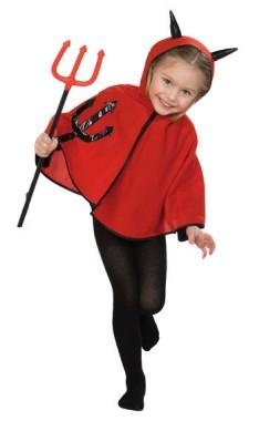 Teufelchen Cape - Kinder Kostüm -1 Teil - Rubie's