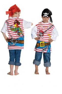 Spieleshirt Pirat - Kinder Kostüm - 1 Teil - Rubie's