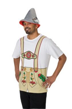 T-Shirt Lederhose - Kostüm - 1 Teil - Rubie's