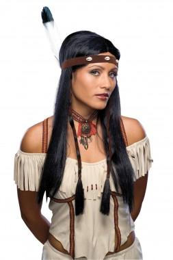 Indianerin - Perücke - Schwarz - Perücken - 1 Teil - Rubie's