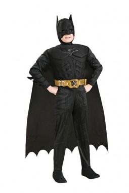 The Dark Knight-Batman - Kids-Muskeloverall+Maske - Kinder Kostüm - 4 Teile - Rubie's