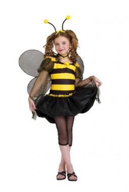 süßes Bienchen - Kleid mit Leggins+Haarreif+Flügel+Halsband - Kinder Kostüm - 5 Teile - Rubie's