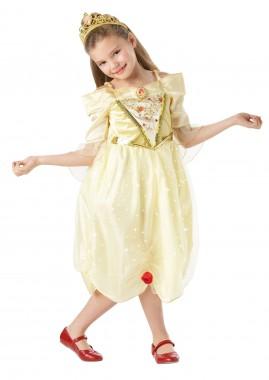 Disney - Belle - funkelndes Kleid+Krone - Kinder Kostüm - 2 Teile - Rubie's