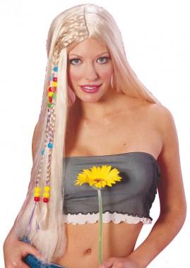 Hippie - Perücke - schwarz, blond - Perücken - 1 Teil - Rubie's