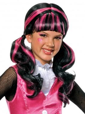 Monster High-Draculaura Hair - Perücke - schwarz, pink - Perücken - 1 Teil - Rubie's