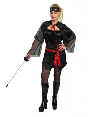 Mystery Mädchen - Kleid+Cape+Gürtel - Kostüm - 3 Teile - Rubie's