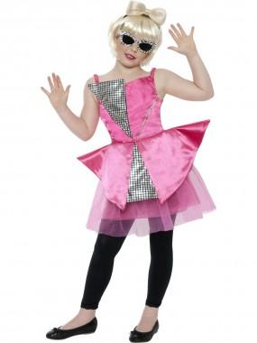 Discoprinzessin - Kleid - pink, silber - Kinder Kostüm - 1 Teil - Smiffy's