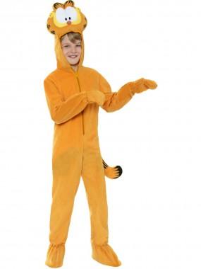 Garfield-Kinderkostüm - Jumpsuit+Handschuhe - orange - Kinder Kostüm - 2 Teile - Smiffy's
