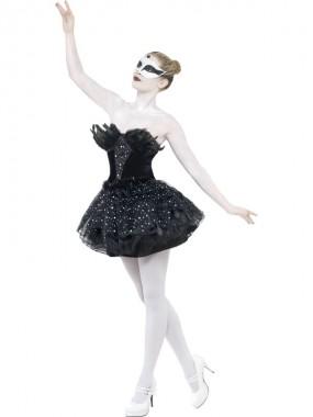 Gothic Schwan - Kleid - schwarz - Kostüm - 1 Teil - Smiffy's