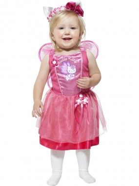 Hello Kitty-Ballerina - Kleid+Haarreif+Flügel - pink - Kinder Kostüm - 3 Teile - Smiffy's