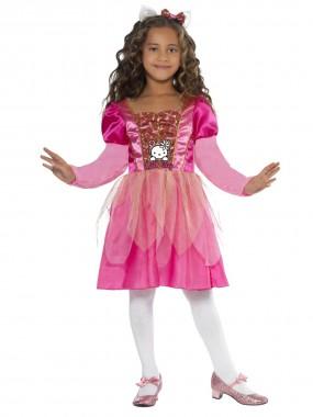 Hello Kitty-Prinzessin - Kleid+Haarreif - pink - Kinder Kostüm - 2 Teile - Smiffy's