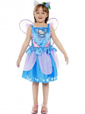 Hello Kitty-Schmetterling - Kleid+Haarreif+Flügel - blau, rosa - Kinder Kostüm - 3 Teile - Smiffy's