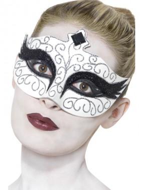 Gothic Schwan - Maske - schwarz/weiß - Masken - 1 Teil - Smiffy's