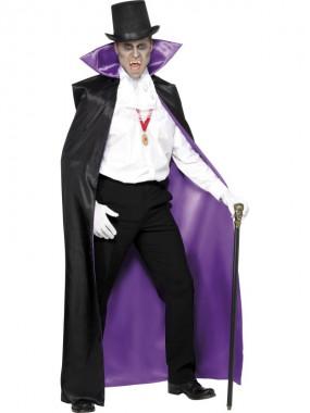 Vampirgraf - Umhang - violett/schwarz - Zubehör - 1 Teil - Smiffy's