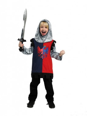 Ritter - Oberteil+Kapuze - Kinder Kostüm - 2 Teile - Rubie's