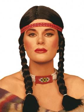 Indianerin - Perücke - Perücken - 1 Teil - Rubie's