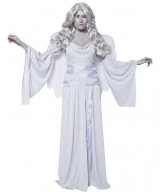 Grabengel - Kleid+Ärmel+Flügel - Hellgrau - Kostüm - 3 Teile - Smiffy's