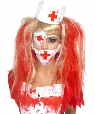 Horrorschwester - Zubehör Set - Weiß-rot - Zubehör - 3 Teile - Smiffy's