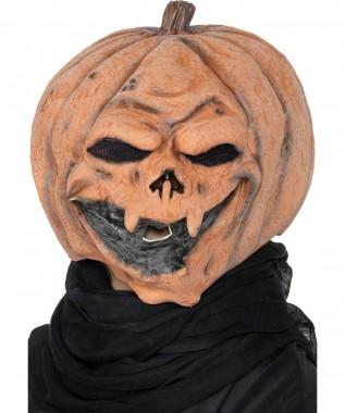 Horror Kürbis - Maske - Hautfarben-braun - Masken - 1 Teil - Smiffy's