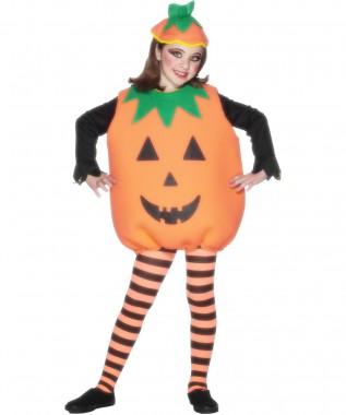 Kürbis - Oberteil+Hut - Orange - Kinder Kostüm - 2 Teile - Smiffy's
