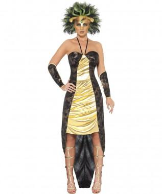 Medusa - Kleid+Ärmel+Perücke - Kostüm - 3 Teile - Smiffy's