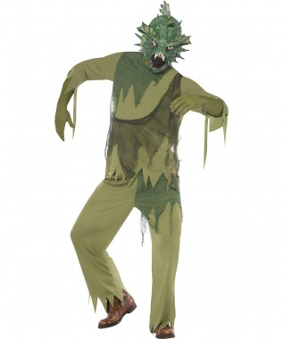 Moormonster - Oberteil+Hose+Maske - Kostüm - 3 Teile - Smiffy's