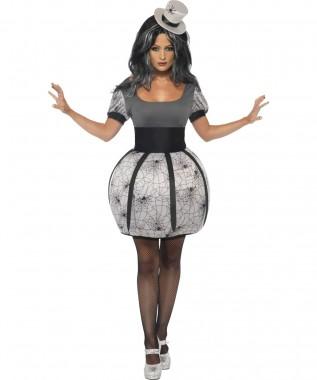 Spinnenfee - Kleid+Hut - Kostüm - 2 Teile - Smiffy's
