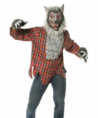 Werwolf - Maske+Hemd+Handschuhe - Kostüm - 3 Teile - Smiffy's