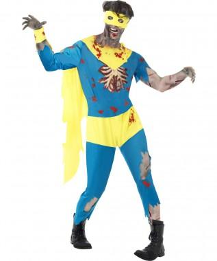 Zombie Superheld - Anzug+Augenmaske+Zubehör - Kostüm - 4 Teile - Smiffy's