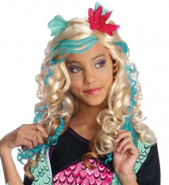 Monster High-Lagoona Blue - Perücke - blond, türkis, rot - Perücken - 1 Teil - Rubie's