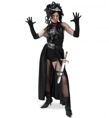 Lady Vampir - Body+Gürtel-Rock+Jabot - Kostüm - 3 Teile - Fries