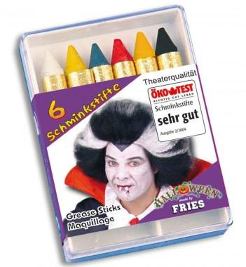 Halloween - Schminkstifte - MakeUp - 6 Teile - Fries
