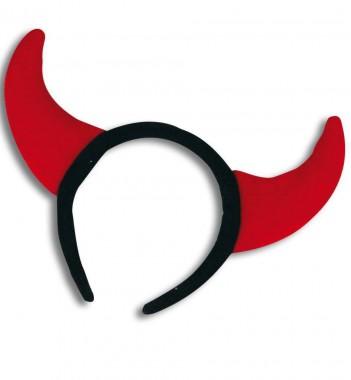 Teufelshörner - Rot/Schwarz - Zubehör - 1 Teil - Fries