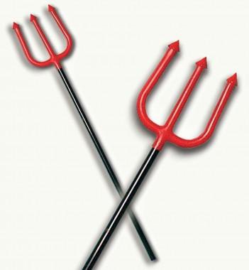 Dreizack - Rot/Schwarz - Zubehör - 1 Teil - Fries