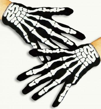 Skeletthandschuhe - Zubehör - 2 Teile - Fries