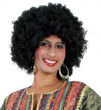 Afrolocken - Perücke - schwarz, braun - Perücken - 1 Teil - Fries
