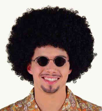 Afro - Perücke - schwarz - Perücken - 1 Teil - Fries