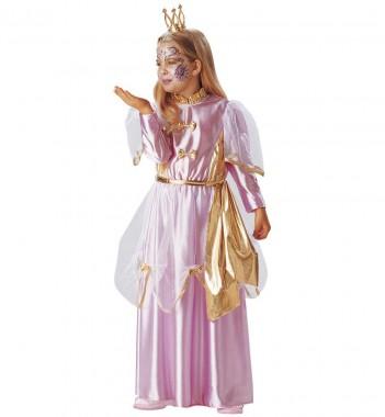 Prinzessin Annabell - Kleid - rosa, gold - Kinder Kostüm - 1 Teil - Fries