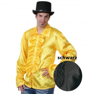 Rüschenhemd - diverse Farben - Kostüm - 1 Teil - Fries